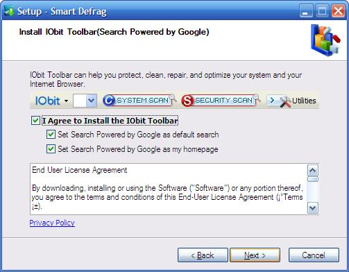 IOBit Free Toolbar